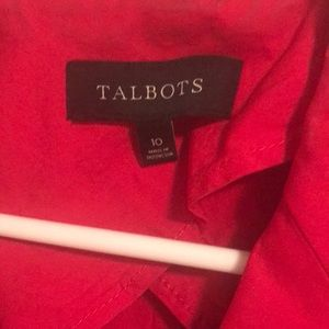 Talbots red cotton blazer